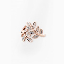 Jacquie Aiche pave diamond wrap leaf ring