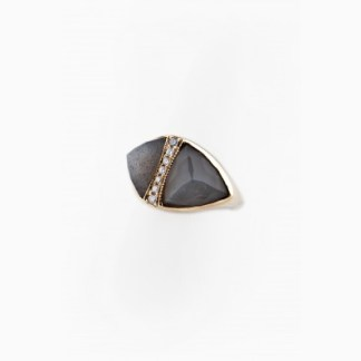 Jacquie Aiche diamond and gemstone double pyramid ring in Labradorite