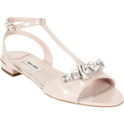 Miu Miu crystal-detailed T-strap sandals
