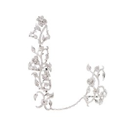 Elise Dray floral double ring