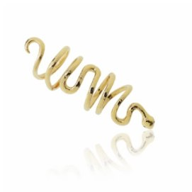 Elise Dray yellow gold snake ring