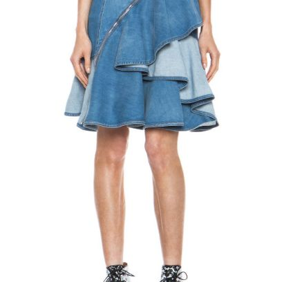 Givenchy ruffled denim skirt