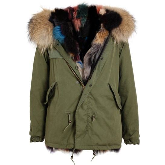 Mr and Mrs Furs multicoloured fur lined parka