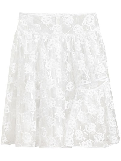 Simone Rocha transparent floral embroidered skirt