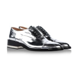 Barbara Bui silver mirror-effect Oxford shoes