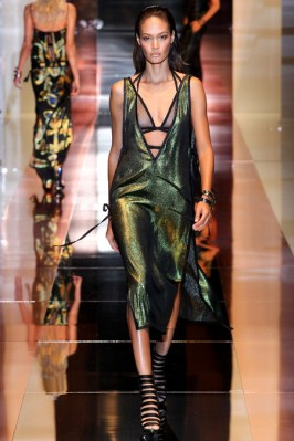 Gucci Spring/Summer 2014 metallic green dress