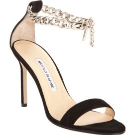Manolo Blahnik Chaos Chain black sandals