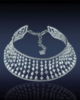Jacob and Co multi-shape diamond choker