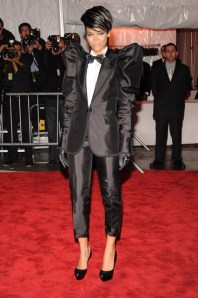 Rihanna wore a Dolce and Gabbana tuxedo to the 2009 Met Gala
