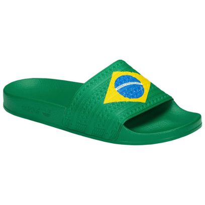 adidas Originals Adilette Brazil flag slides