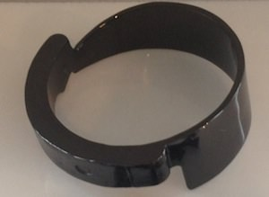 Jennifer Fisher black/brass knife bangle from the Dark Side collection