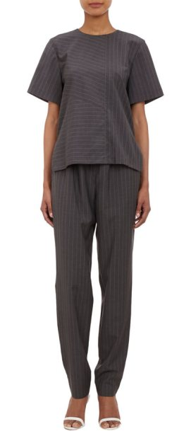 Alexander Wang pinstripe top and pants