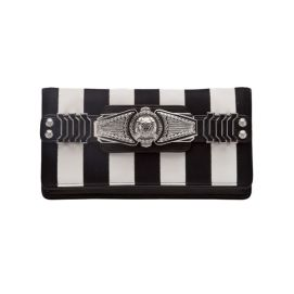 Balmain striped clutch