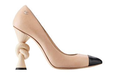 Chanel beige knot heel Resort 2014 pumps