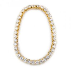 Fallon Classique crystal collar in gold