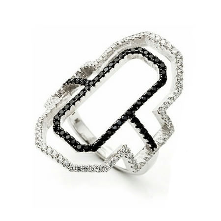 Fallon emerald cut silhouette ring