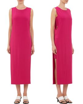 Helmut Lang pink high slit dress