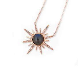 Jacquie Aiche gemstone starburst necklace in labradorite