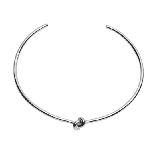 Jennifer Fisher silver knot choker as seen on Rihanna