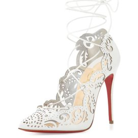 Christian Louboutin white Impera pumps