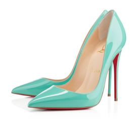 Christian Louboutin So Kate aquamarine pumps