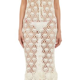 Natalie Martin Ness cream crochet dress