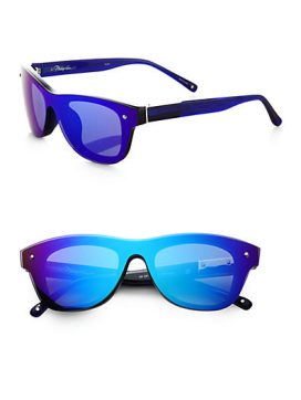 3.1 Phillip Lim blue mirrored sunglasses
