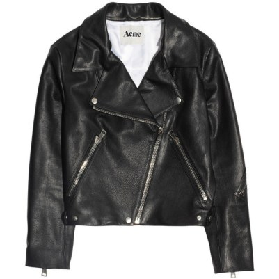 Acne Studios Rita leather biker jacket as seen on Rihanna