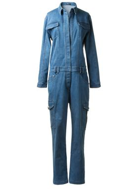 Balmain Spring 2014 denim jumpsuit as seen on Rihanna