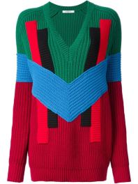Givenchy geometric colour block sweater