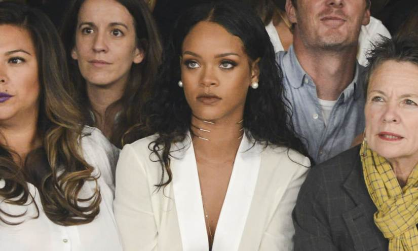 Rihanna at Edun Spring/Summer 2015 fashion show