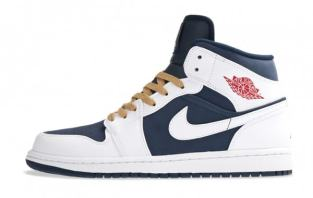 Air Jordan 1 Phat Olympic sneakers as seen on Rihanna
