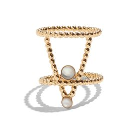 Lady Grey pinnacle ring with white mother of pearl as seen on Rihanna