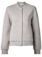 T by Alexander Wang grey varsity jacket as seen on Rihanna