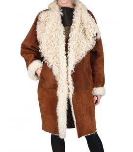 Fendi sheepskin and shearling coatFendi sheepskin and shearling coat