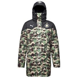 Puma x BAPE ABC camo hooded jacket as seen on Rihanna