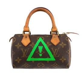 Custom Louis Vuitton Mini HL handbag by Flosstradamus for VFILES as seen on Rihanna