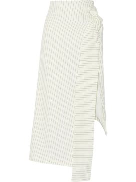 J.W.Anderson pinstriped asymmetrical skirt as seen on Rihanna