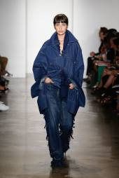 Matthew Dolan Spring 2015 oversized denim jacket as seen on Rihanna