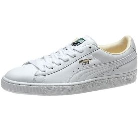 Puma Basket Classic sneakers in white as seen on Rihanna