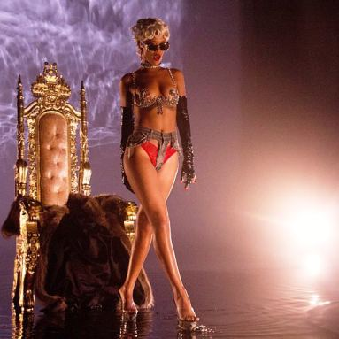 Rihanna in Pour It Up music video