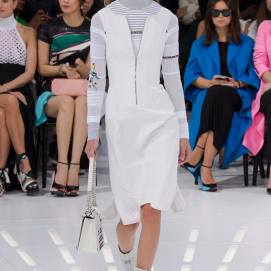 Christian Dior Spring 2015 white quilted dress as seen on Rihanna