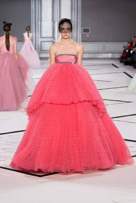 Giambattista Valli Spring 2015 couture pink strapless gown as seen on Rihanna