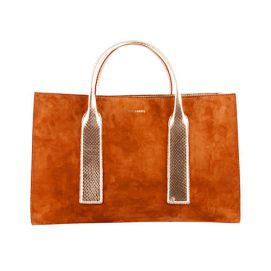 Dsquared2 Spring 2015 suede shopping tote as seen on Rihanna