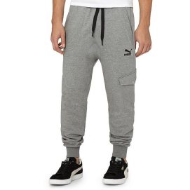 Puma relaxed fit cargo sweatpants in grey as seen on Rihanna