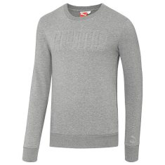 Puma raised logo crew sweatshirt in grey as seen on Rihanna