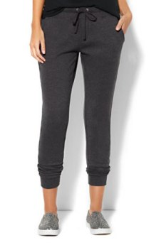 New York & Company boyfriend joggers in graphite heather grey as seen on Rihanna