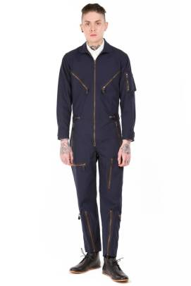 Patrik Ervell Fall 2011 navy flight suit as seen on Rihanna