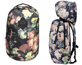 Puma x House of Hackney Midnight Garden backpack with hood as seen on Rihanna