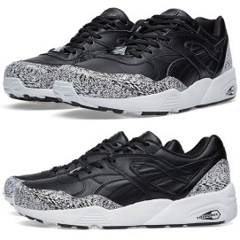 Puma R698 Trinomic sneakers in Snow Splatter as seen on Rihanna